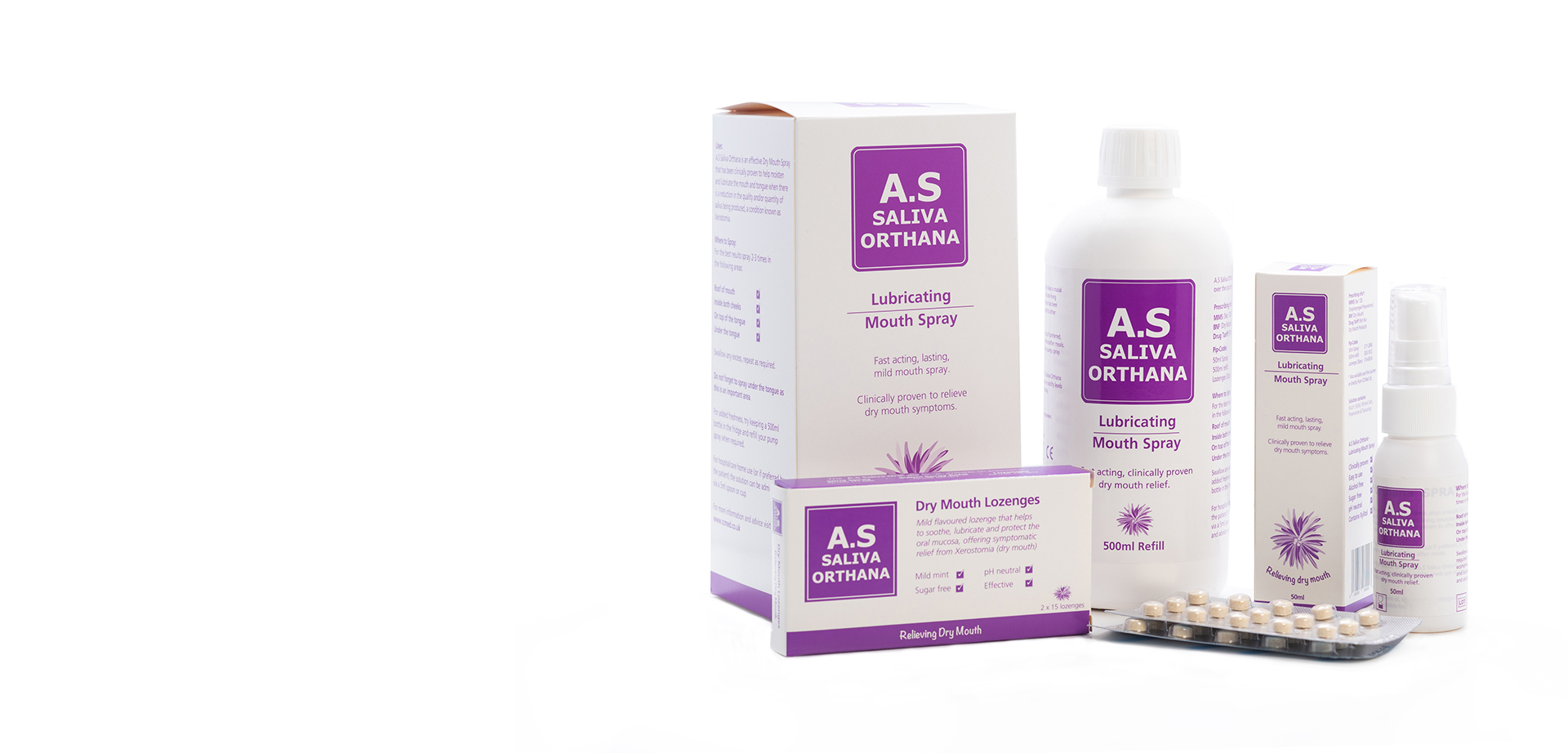 A.S Saliva Orthana - Dry Mouth Relief. Clinically proven, effective, pH neutral
